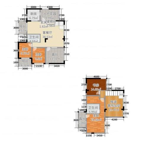 华韵城市海岸二期4室2厅2卫1厨242.00㎡户型图