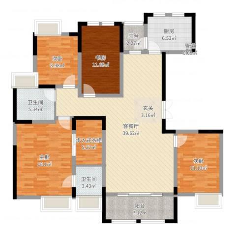 秦岭北麓4室2厅2卫1厨149.00㎡户型图