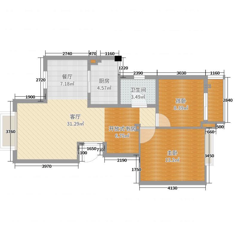 上上城18幢803室施工图纸1