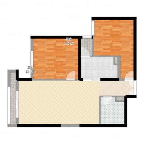 巨华世纪城二期和谐园2室2厅1卫1厨100.00㎡户型图