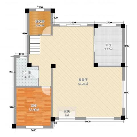 洛阳碧桂园1室2厅1卫1厨260.00㎡户型图