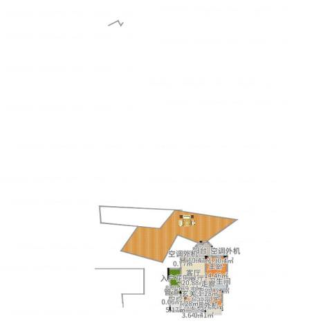 山语间爱尚2室2厅3卫1厨222.00㎡户型图