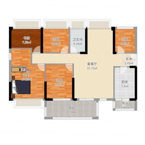 恒裕・世纪广场5室2厅1卫1厨137.00㎡户型图