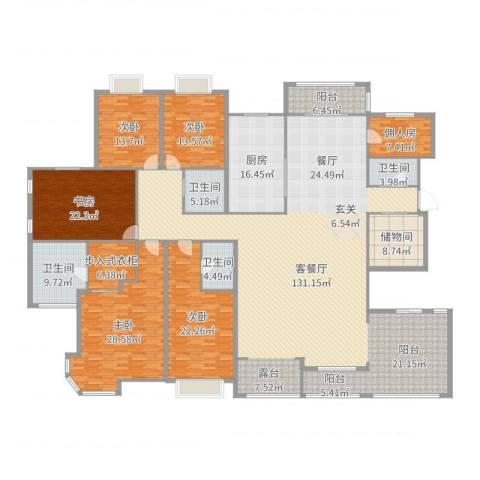 天徽天鹅湖9号5室2厅4卫1厨375.00㎡户型图