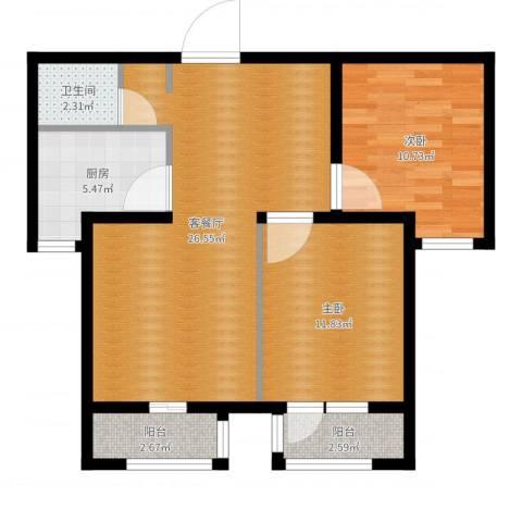 世纪学庭2室2厅1卫1厨78.00㎡户型图