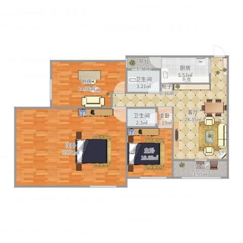 临江佳园4室1厅2卫1厨133.00㎡户型图