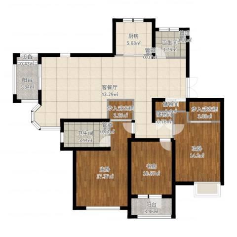 旭辉朗悦庭3室2厅2卫1厨145.00㎡户型图