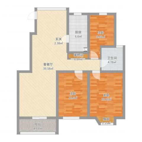 凯阳花园3室2厅1卫1厨116.00㎡户型图