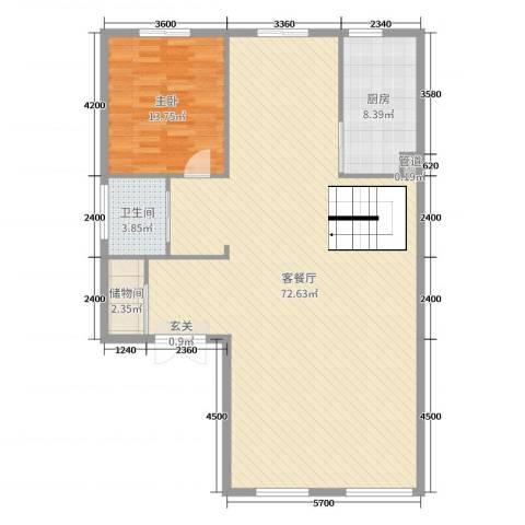 明发珍珠泉9号1室2厅1卫1厨314.00㎡户型图