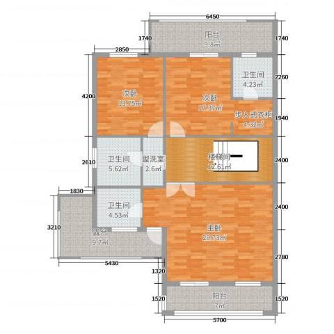明发珍珠泉9号3室0厅3卫0厨314.00㎡户型图
