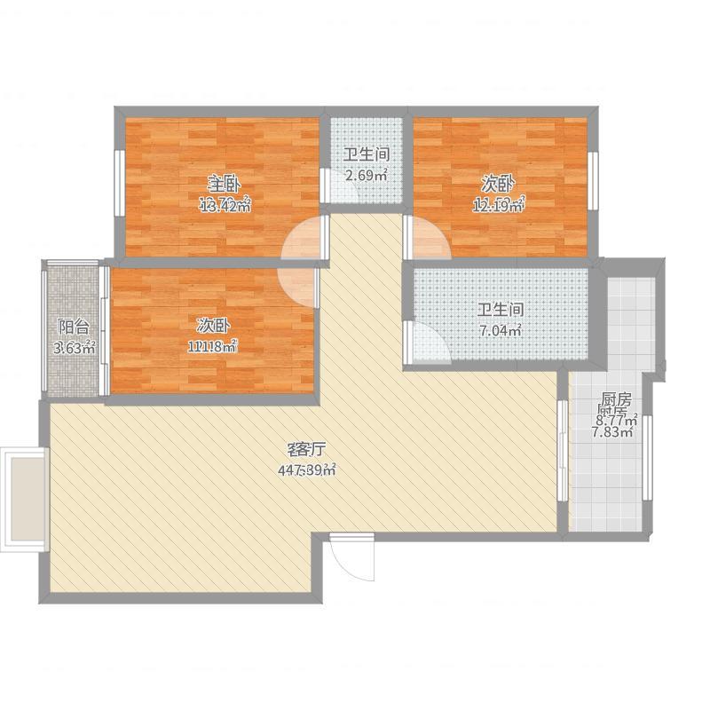 空中花园三居室装修设计方案