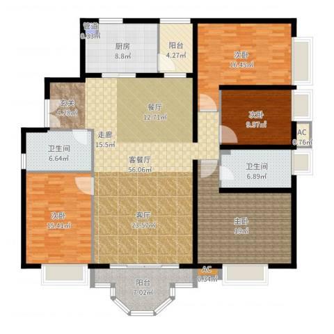 珠江广场4室2厅2卫1厨151.94㎡户型图