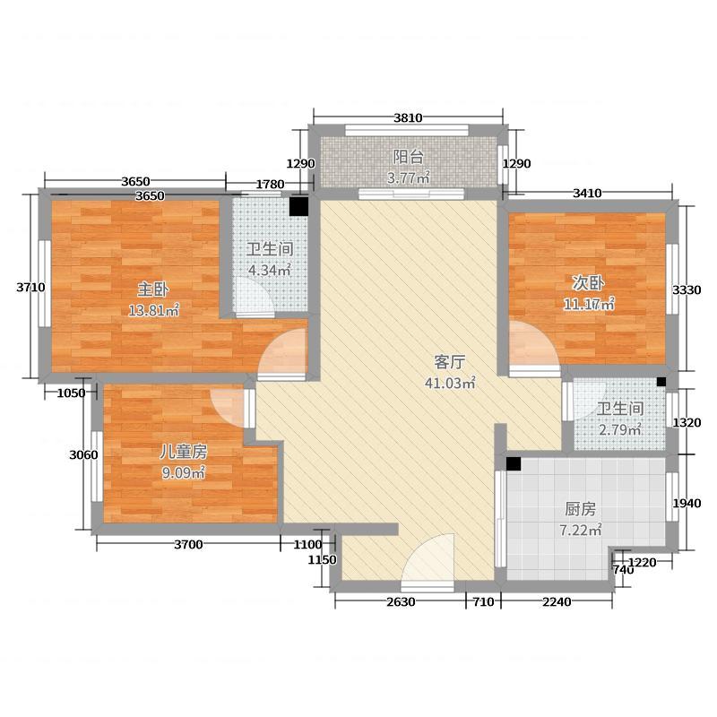 盛世府邸简约三室