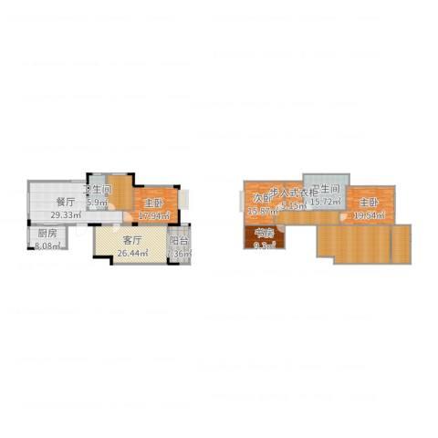 永泰家园4室2厅2卫1厨268.00㎡户型图