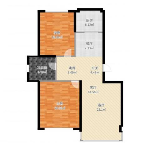 彼岸城2室1厅1卫1厨118.00㎡户型图