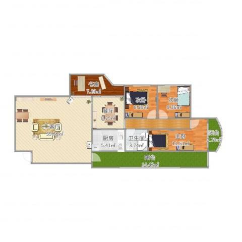 太升大厦C14室2厅1卫1厨144.00㎡户型图