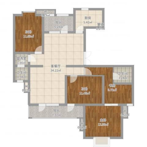 鼎鑫名流苑4室2厅2卫1厨134.00㎡户型图
