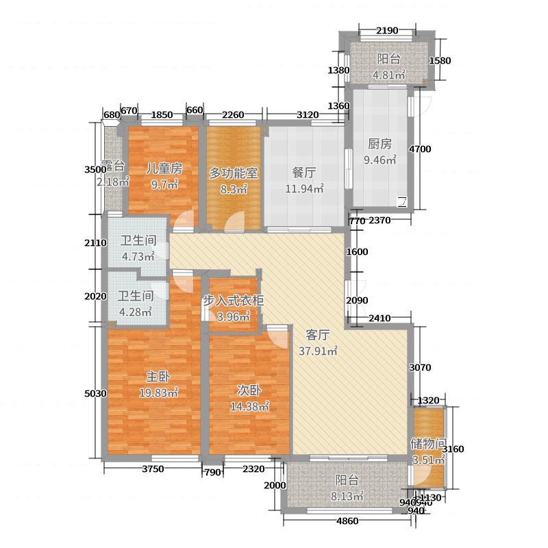 中央公园11#楼2302平面图