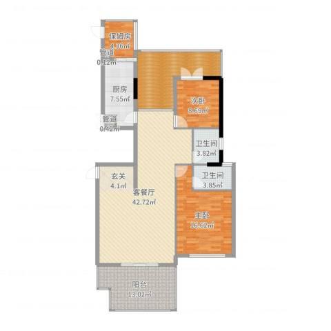 新景缘2室2厅2卫1厨144.00㎡户型图