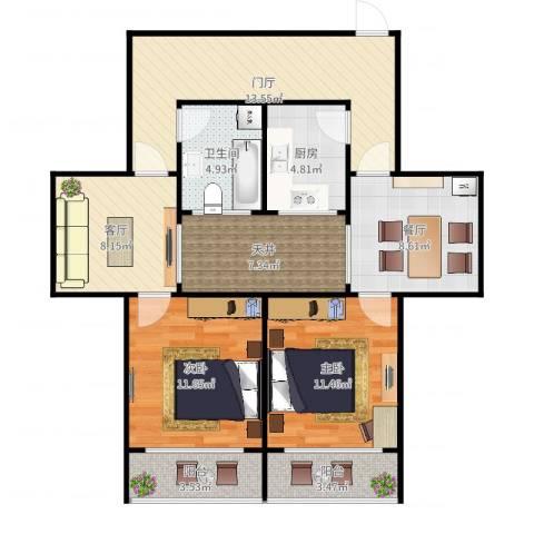 同发里3-5-3022室2厅1卫1厨97.00㎡户型图
