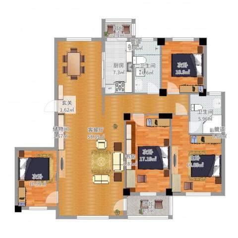 海创半山壹号4室2厅2卫1厨175.00㎡户型图