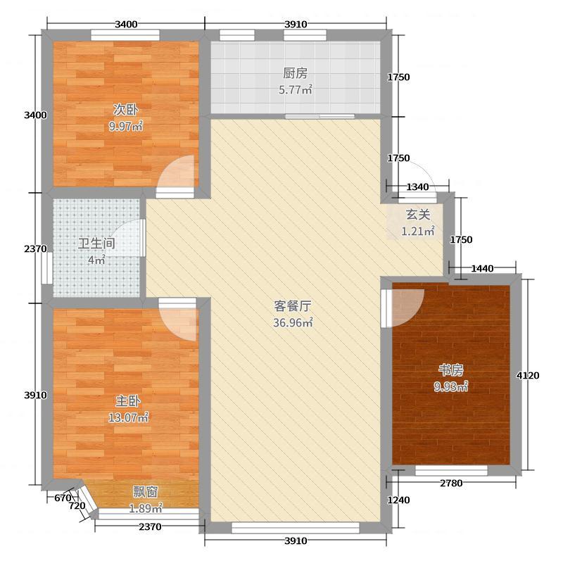 ���б���֮��98.00㎡多层户型3室3厅1卫1厨