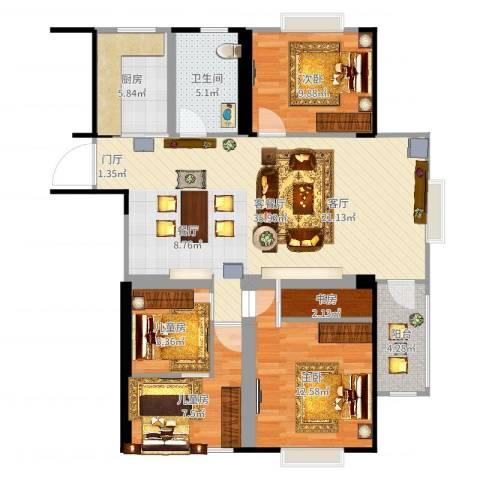 天工・锦绣花园5室2厅1卫1厨111.00㎡户型图
