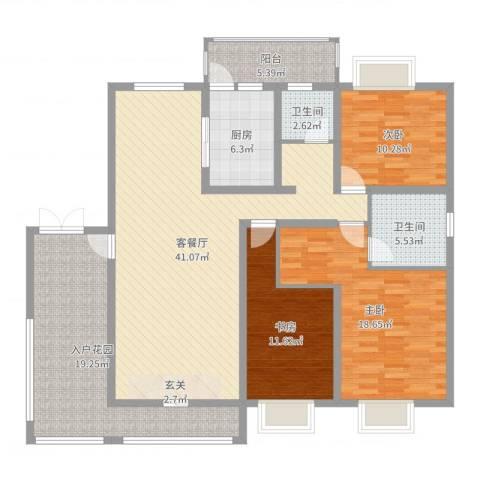 乐仙小镇3室2厅2卫1厨151.00㎡户型图
