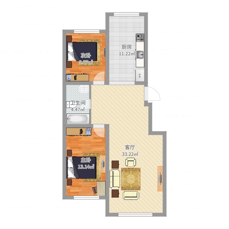 22号楼A4户型图