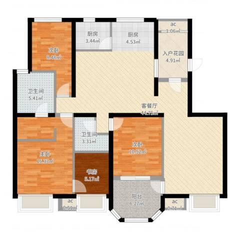 龙湖西小马项目4室2厅2卫1厨137.00㎡户型图