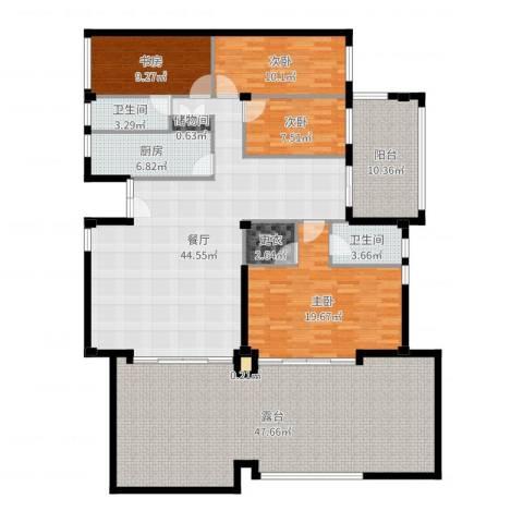 国信自然天城4室1厅2卫1厨208.00㎡户型图