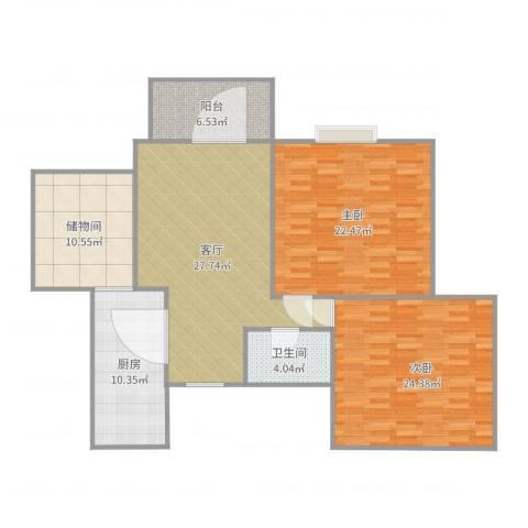 御景水城8-3-11022室1厅1卫1厨133.00㎡户型图