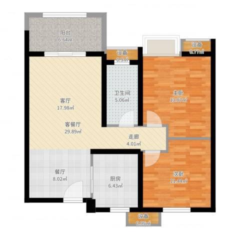 徐州华润绿地・凯旋门2室2厅1卫1厨95.00㎡户型图