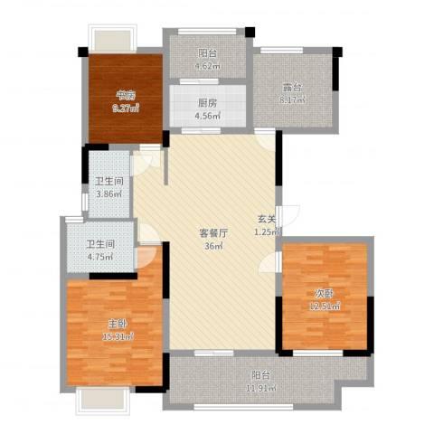 梧桐香郡3室2厅2卫1厨139.00㎡户型图
