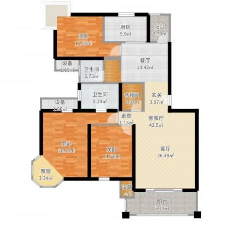 中金玫瑰湾二期4室2厅5卫1厨147.00㎡户型图