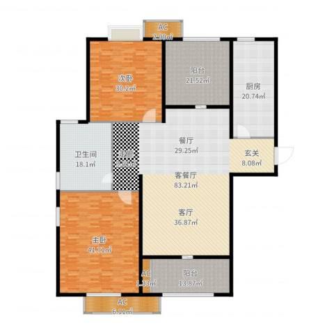双塔小区2室2厅1卫1厨300.00㎡户型图
