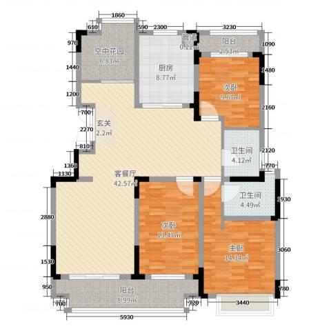 虎豹郡王府3室2厅2卫1厨145.00㎡户型图