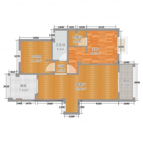天一家园6期21幢4031室2厅1卫1厨97.00㎡户型图