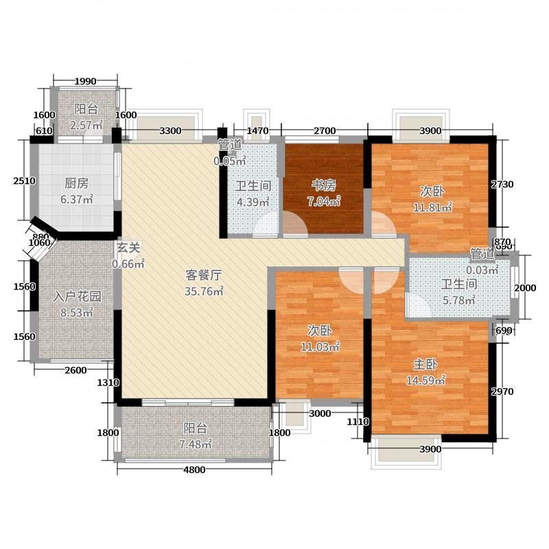 中铁・诺德国际149.17㎡3栋0户型4室4厅2卫1厨