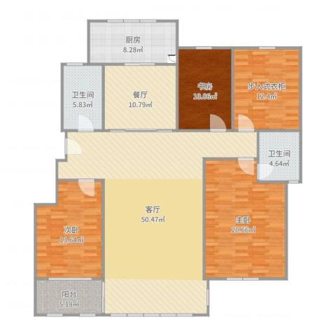 审计厅宿舍3室2厅2卫1厨177.00㎡户型图