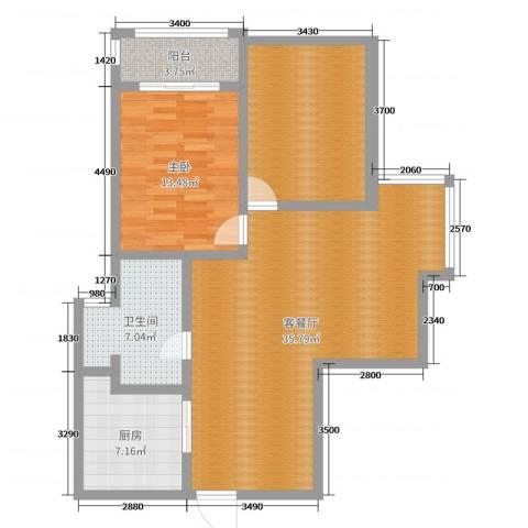 明日星城城欣园27-5071室2厅1卫1厨100.00㎡户型图