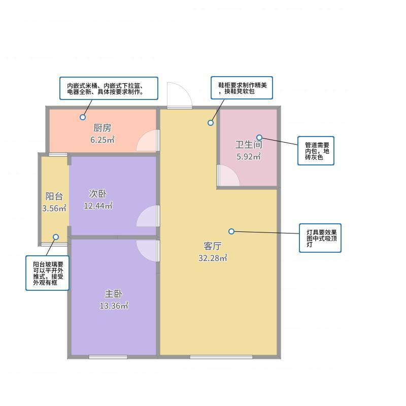 赵静-翰林华苑1004-2室1厅