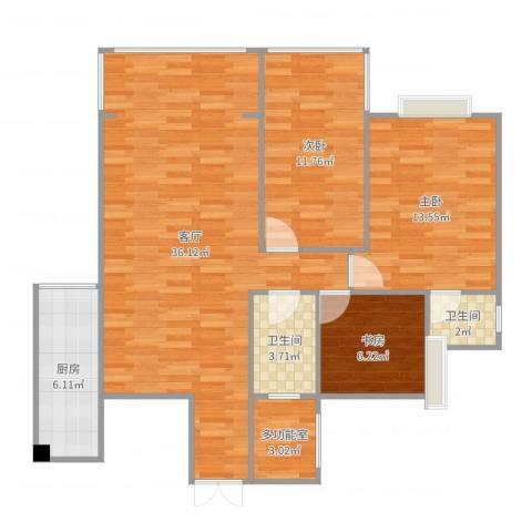 碧阳国际城3室1厅2卫1厨103.00㎡户型图