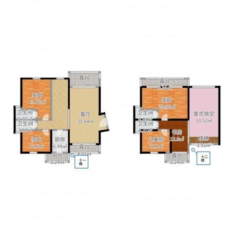 雍雅山庄5室1厅4卫1厨273.00㎡户型图