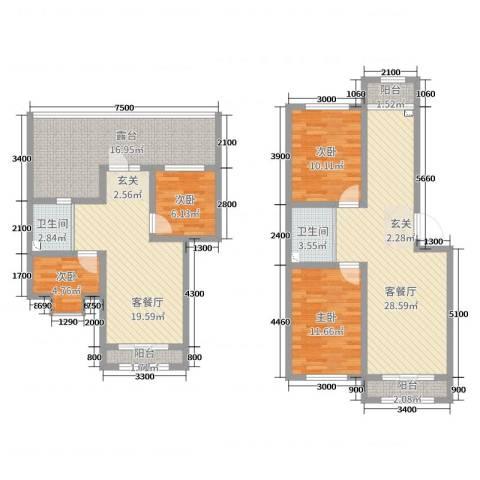 塞纳阳光4室4厅2卫0厨140.00㎡户型图
