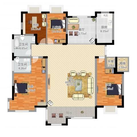 康和西岸4室1厅2卫1厨210.00㎡户型图