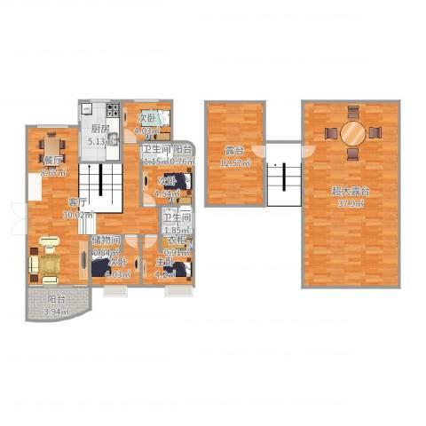恒兴金都华庭4室1厅2卫1厨140.00㎡户型图