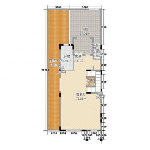 江畔豪庭2厅1卫1厨388.00㎡户型图