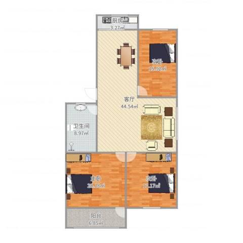 燕舞园3室1厅1卫1厨146.00㎡户型图