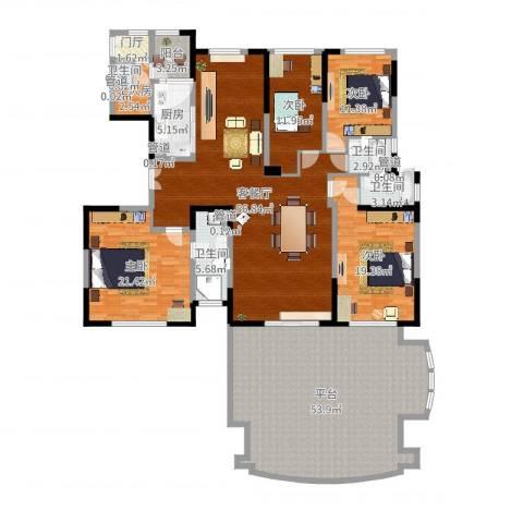 碧桂园凤凰城4室2厅4卫1厨250.00㎡户型图